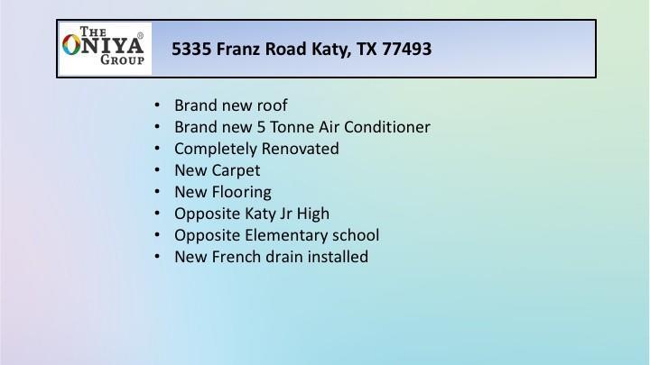 Active | 5335 Franz Road Katy, Texas 77493 1